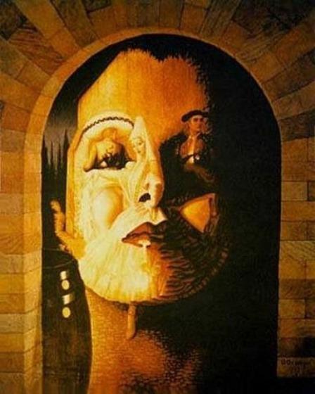 Оптические иллюзии в картинах Октавио Окампо, современного художника сюрреалиста