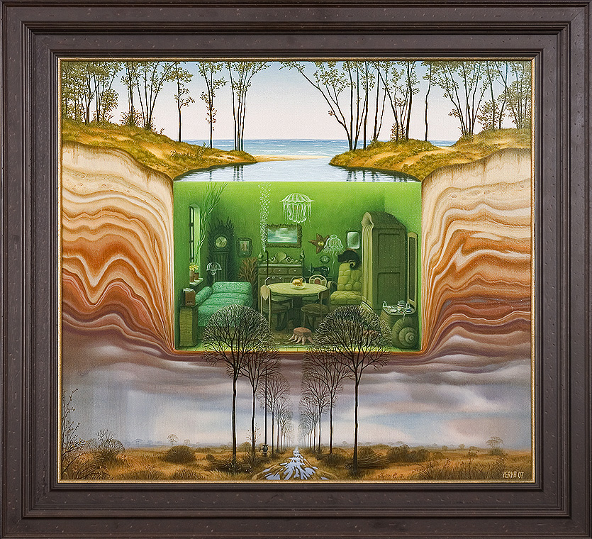 Akwarium, 2007 akryl, plotno, 65 x 73, Яцек Йерка