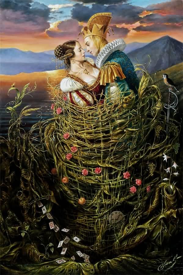 Basket of Love, Михаил Хохлачев, картины, художники сюрреалисты
