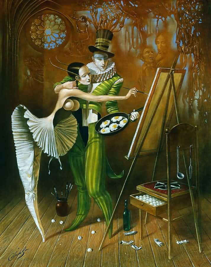 Blind Inspiration II, Михаил Хохлачев, картины, художники сюрреалисты