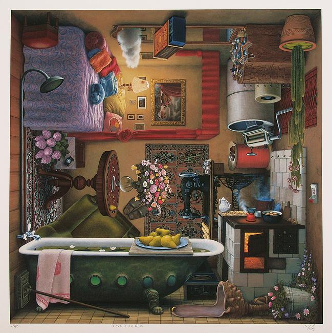 Польский художник Яцек Йерка, картины
