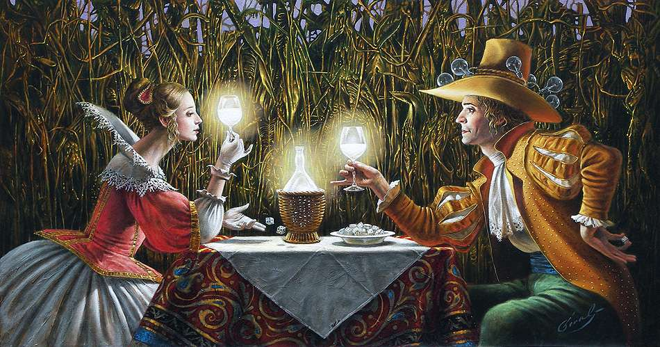 Delighted by Light II, Михаил Хохлачев, картины, художники сюрреалисты