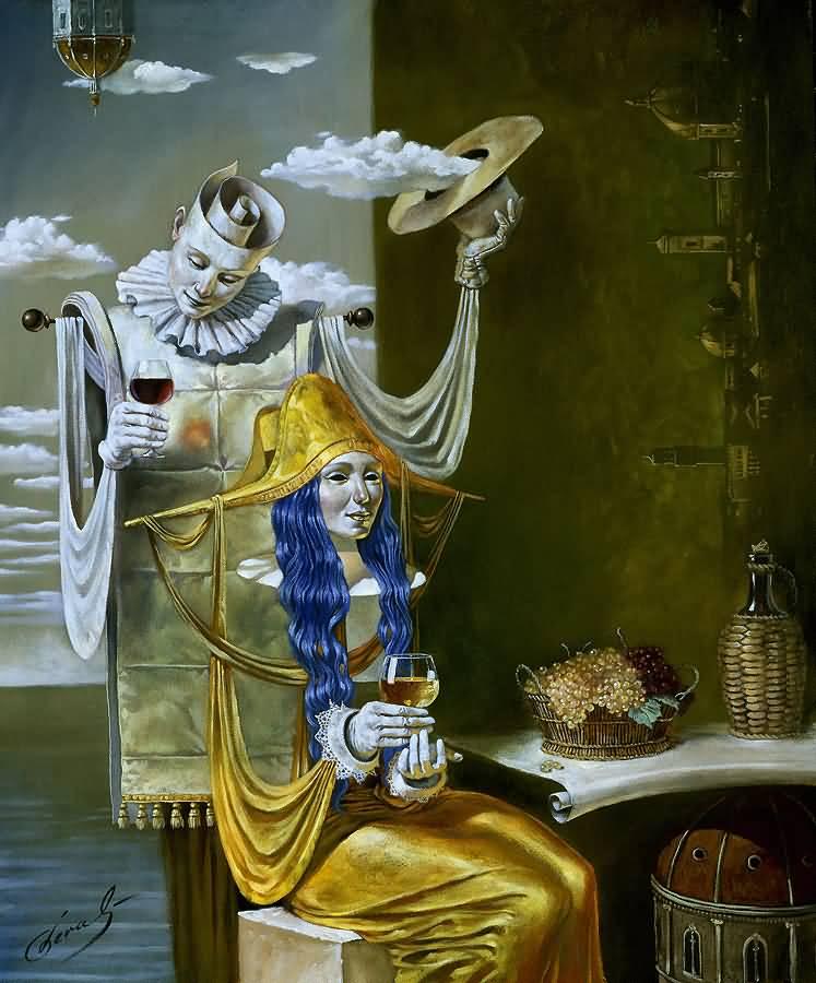 Echo of the Golden Age, Михаил Хохлачев, картины, художники сюрреалисты