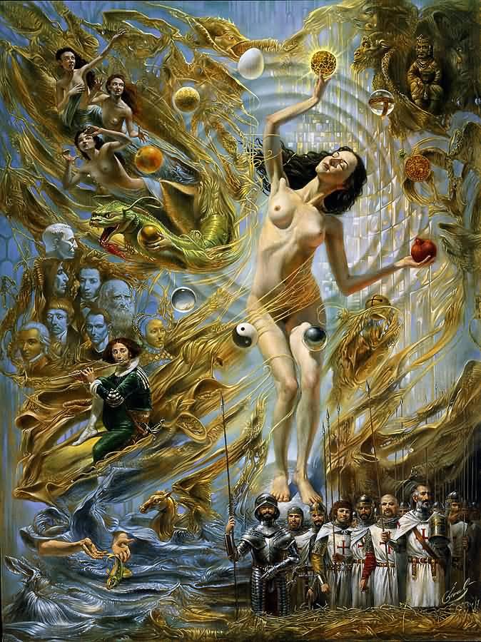 Equilibrium at the Absolute Distinction, Михаил Хохлачев, картины, художники сюрреалисты