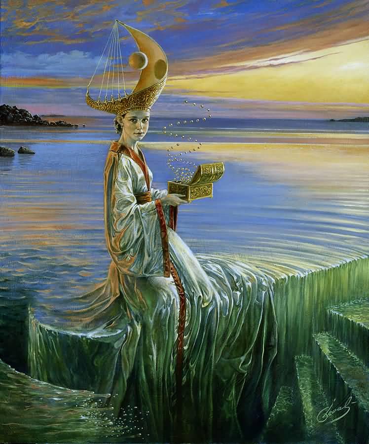 Lady of Hurricane, Михаил Хохлачев, картины, художники сюрреалисты