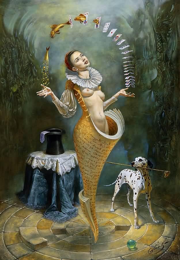 Magica Lesson II, Михаил Хохлачев, картины, художники сюрреалисты