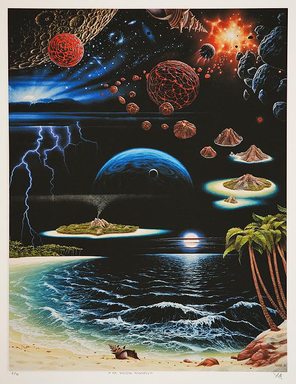 Na brzegu kosmosu, 1992, польский художник Яцек Йерка, картины