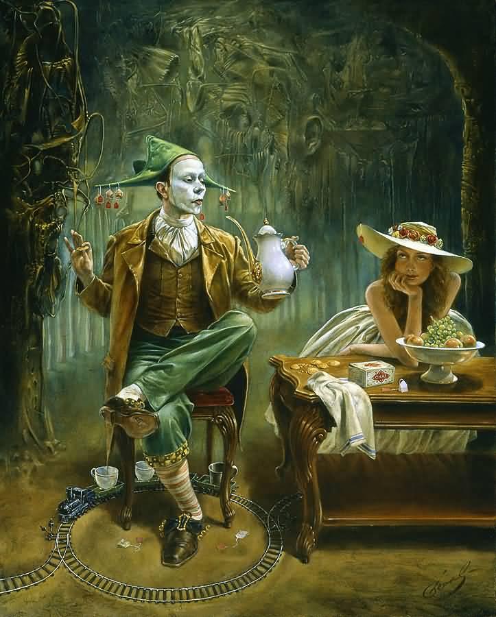 Tea for One, Михаил Хохлачев, картины, художники сюрреалисты