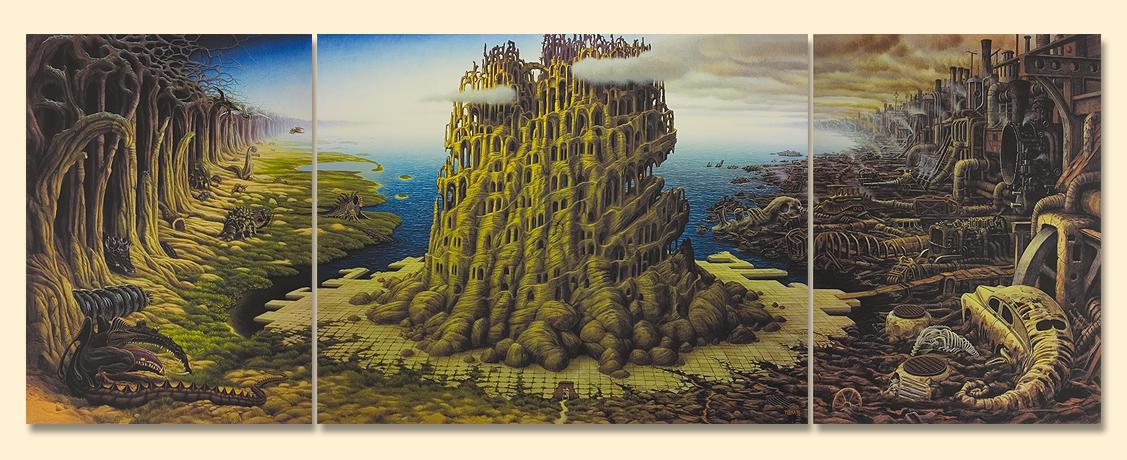 Tryptyk Jamesa, 1996, польский художник Яцек Йерка.