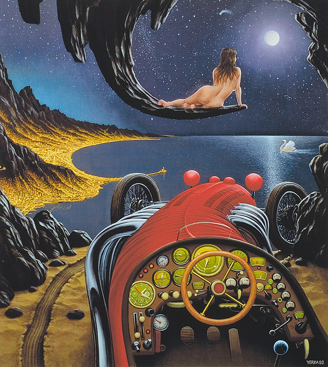Widzenie nad Zatoka Genuenska, 1992, Яцек Йерка, картины