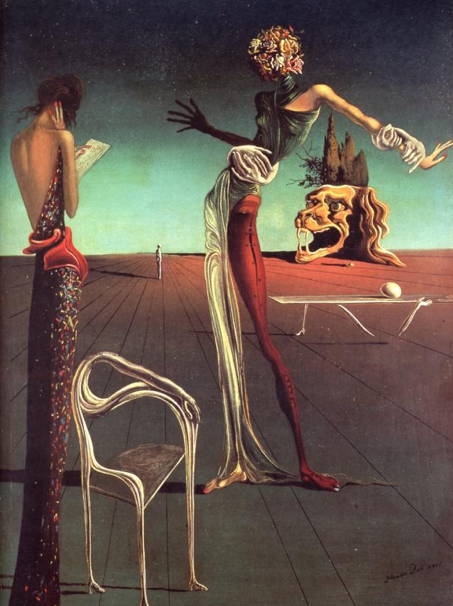 Сальвадор Дали, картина Женщина с головой из роз (1935), стиль сюрреализм