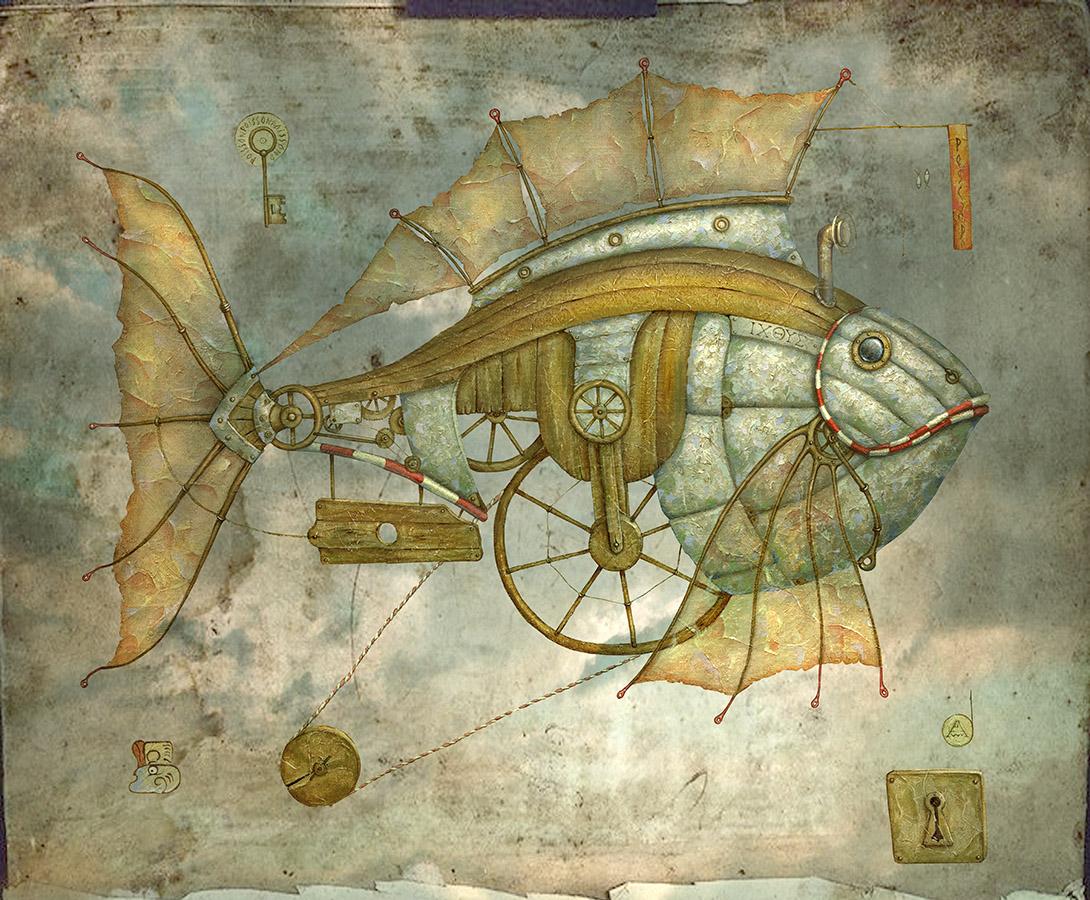 Алексей Ежов, картины художника, сюрреализм