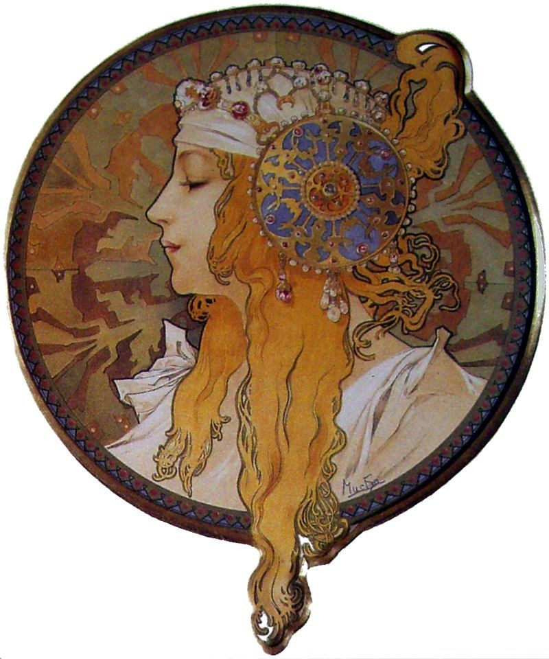 голова византийки блондинка