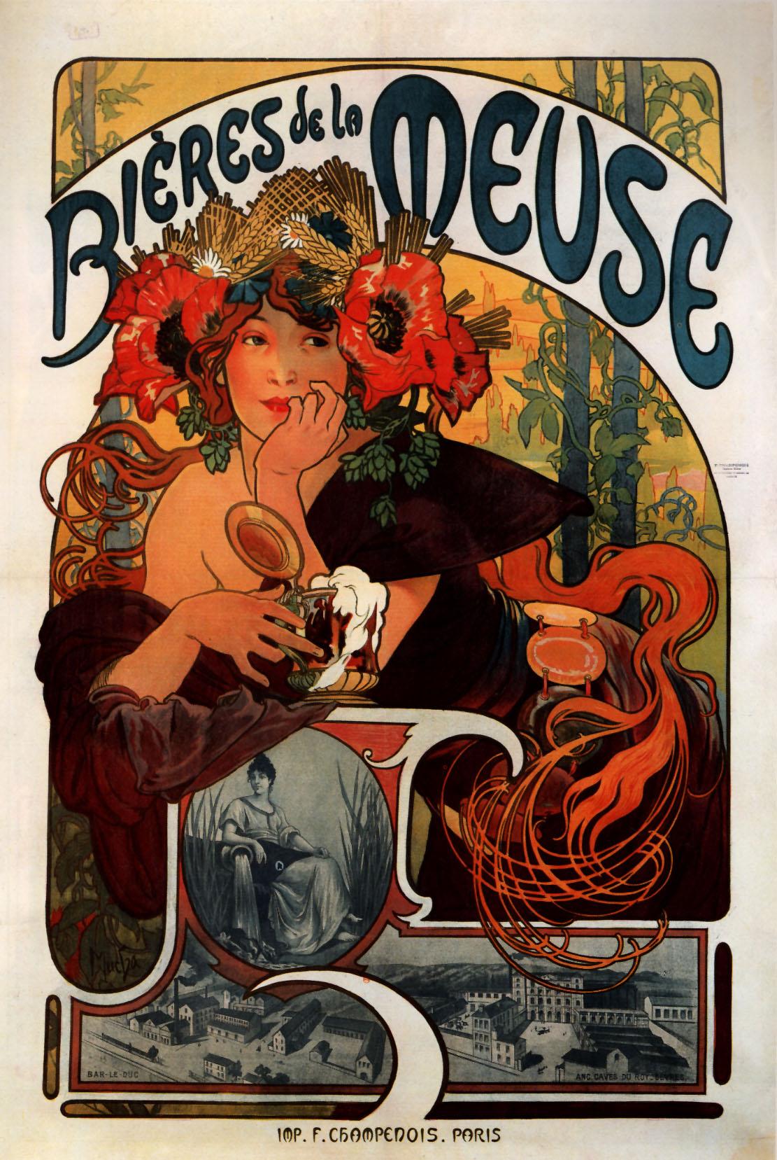 Рекламный плакат Пиво из Мааса