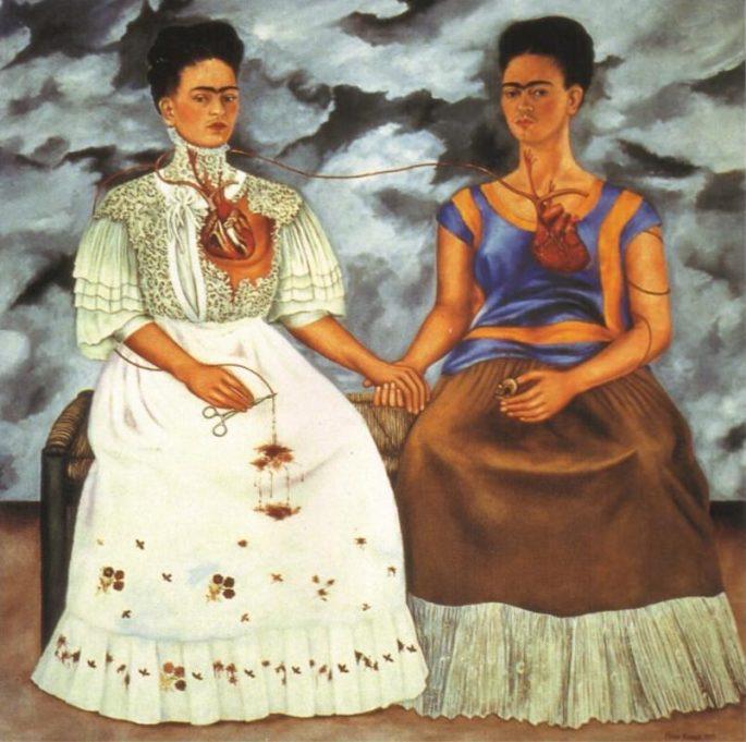 Две Фриды, картина Фриды Кало.