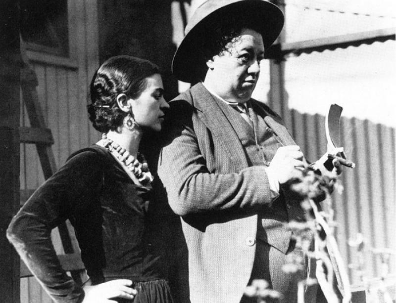 Фрида Кало и Диего Ривера, фото