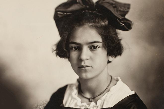 Фрида Кало в детстве.