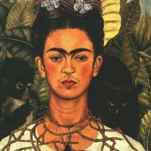 Фрида Кало, картины, автопортрет с колибри