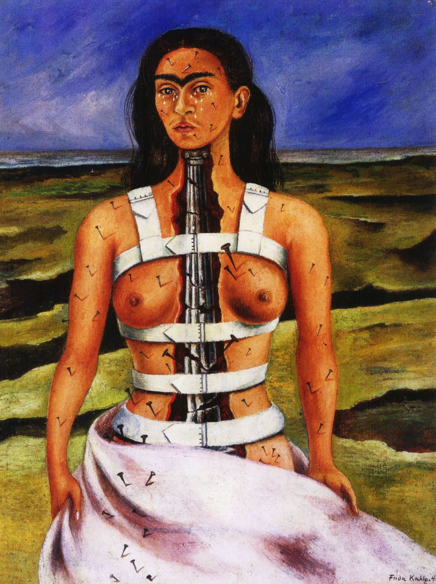 Фрида Кало, картины, сломанная колонна