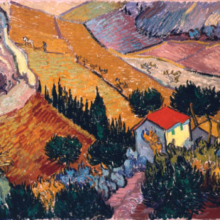 Долина с пахарем, вид сверху