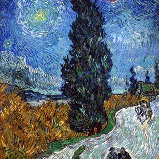 Картины Ван Гога, Дорога с кипарисом и звездой