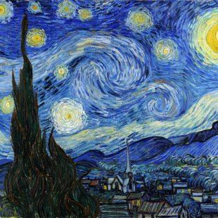 Картины Ван Гога, звёздная ночь