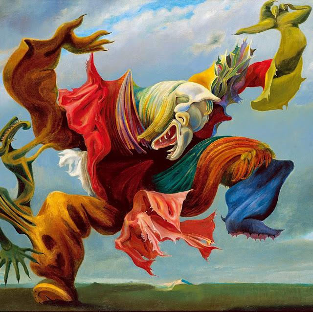 Макст Эрнст, картина Ангел домашнего очага или Триумф сюрреализма
