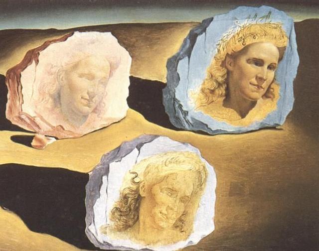 Жена Сальвадора Дали, Три явления облика Гала