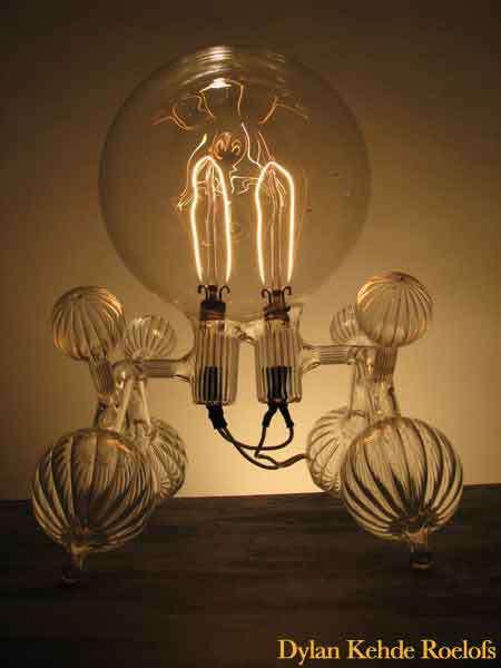 Дилан Кеде Ролофс, скульптуры из стела и электричества, украшения для дома