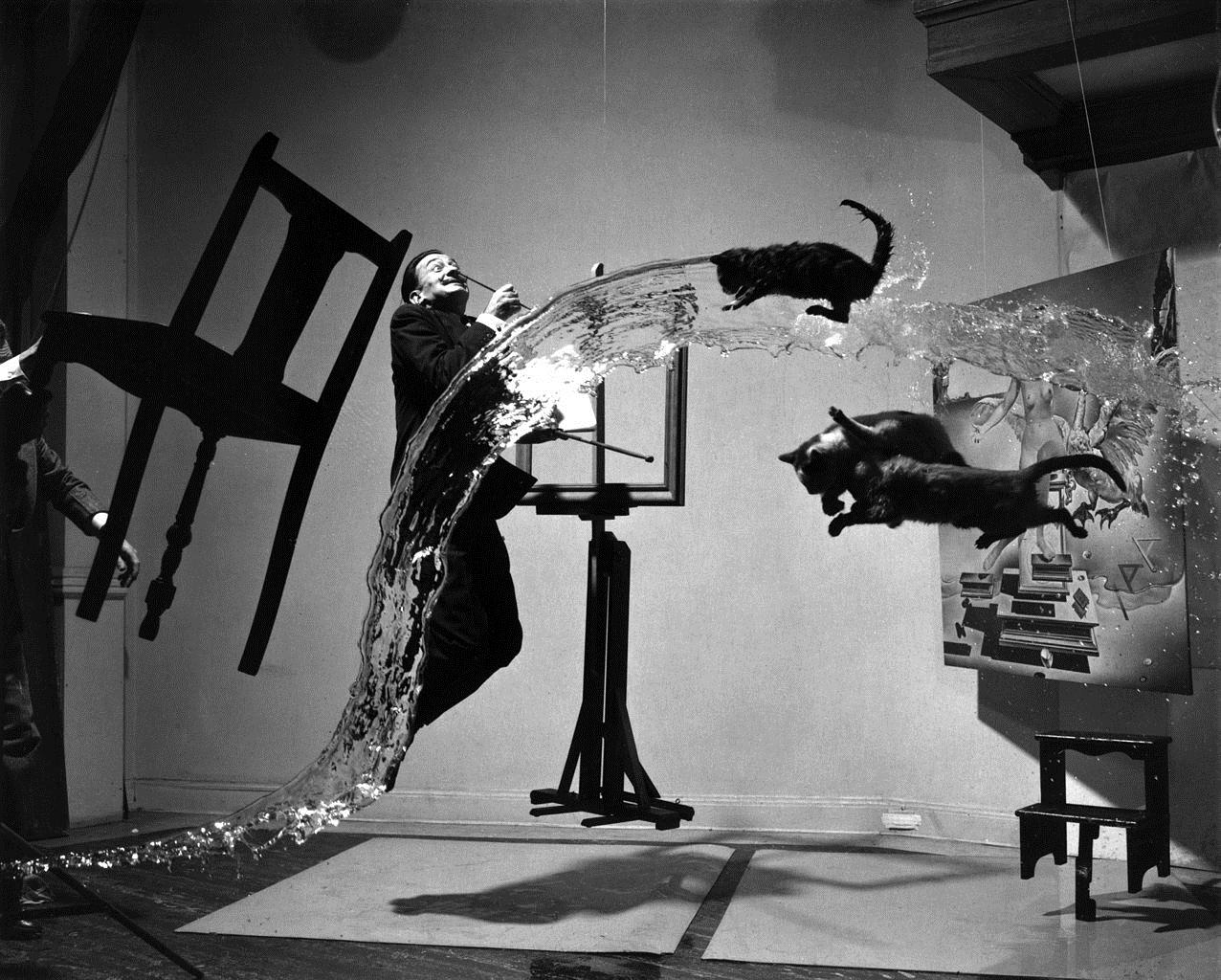 Филипп Халсман, фото Сальвадора Дали с кошками, атомикус Дали