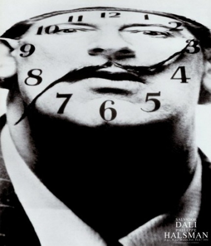 Филипп Халсман, фото Сальвадор Дали, часы, усы