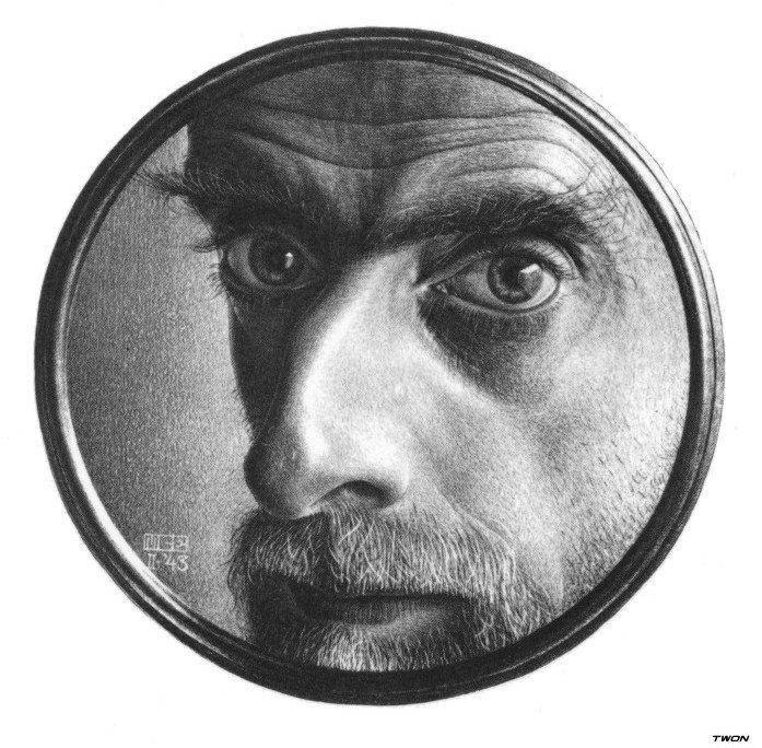 автопортрет Эшера Маурица Корнелиса, графика, картины