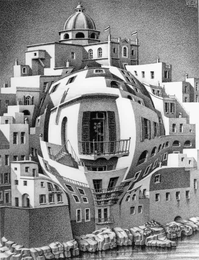 Эшер Мауриц Корнелис, картины, пространственные иллюзии
