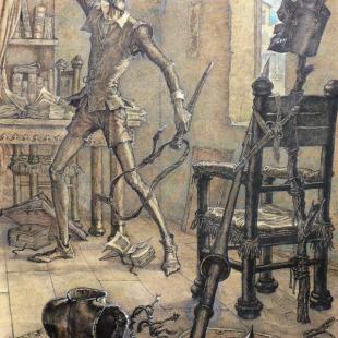 "Иван Кусков, рисунок к книге ""Дон Кихот"""