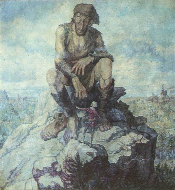 """Иван Кусков рисунок к книге """"Храбрый портняжка"""""""