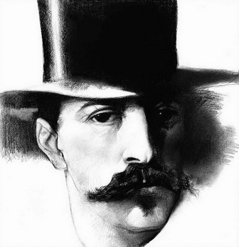 Иллюстрации Клима Ли, Ги Де Мопассан, портрет