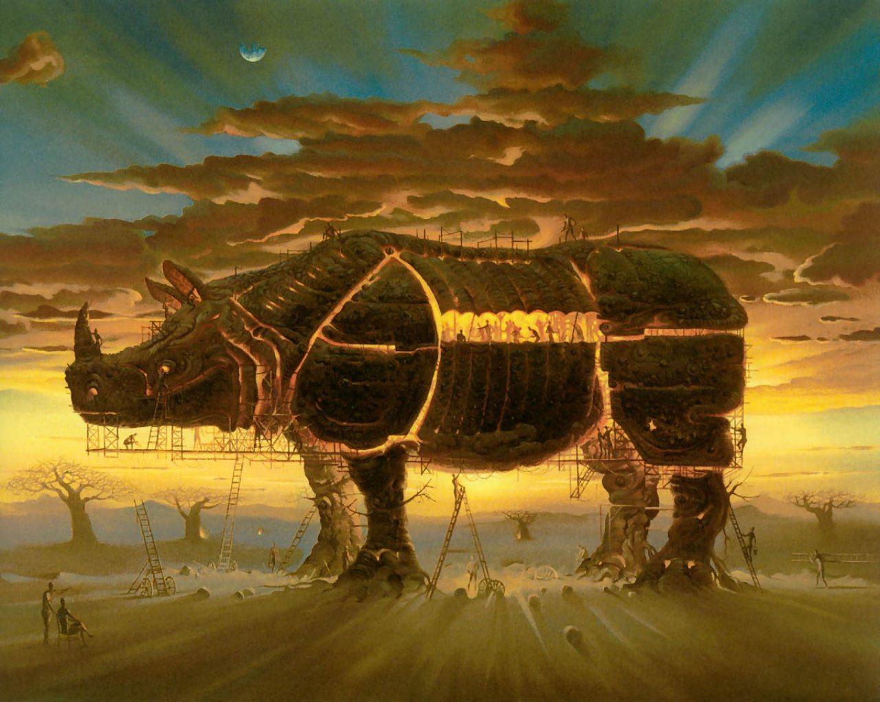 Картины художника сюрреалиста Владимира Куша, Trojan Horse