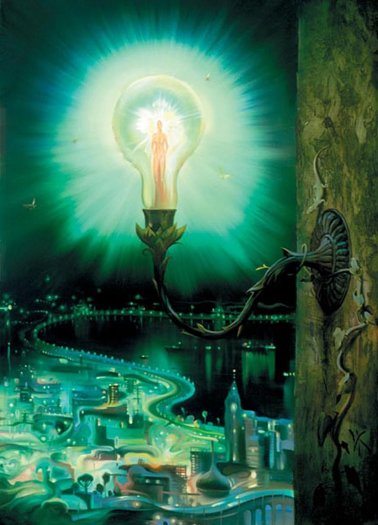 Картины художника сюрреалиста Владимира Куша (лампочка)