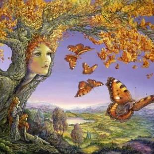 Художник Жозефина Уолл, серия феи, дерево бабочек