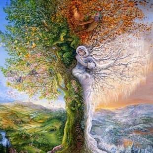Картины художницы Жозефины Уолл, Дерево четырех сезонов, серия Феи