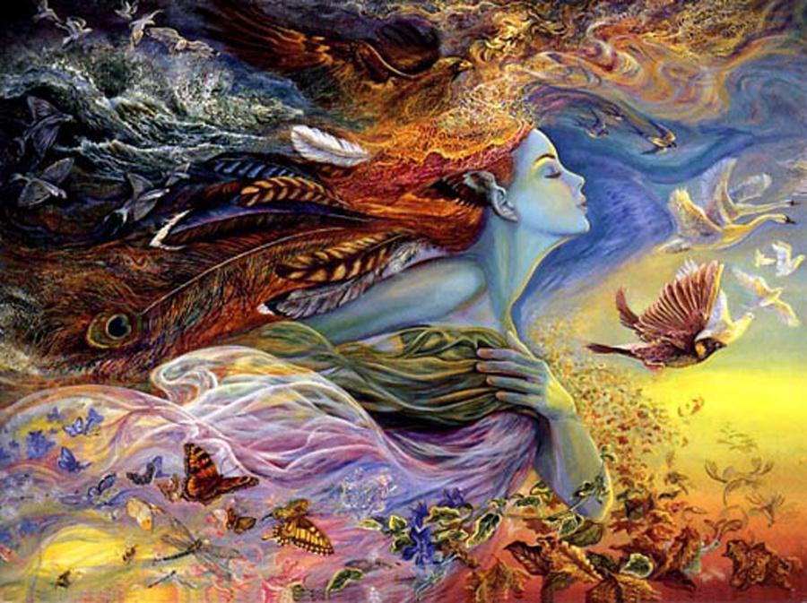 Художница Жозефина Уолл, Дух полета, серия Богини
