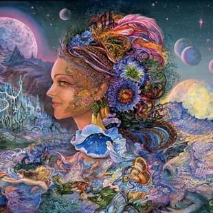 Картины Жозефины Уолл, серия Богини, Luna Landra