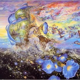 Josephine Wall, картины, Путшествие Андромеды, серия Вода и Воздух