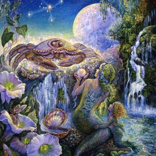 Картины Жозефины Уолл, зодиак, рак