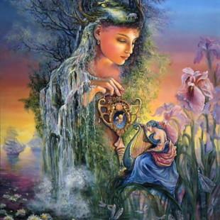 Josephine Wall, картины, Ундина, серия Вода и Воздух