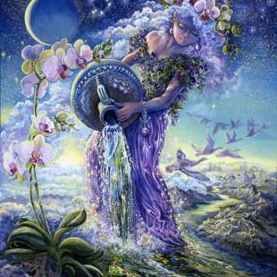 Картины Жозефины Уолл, зодиак, водолей