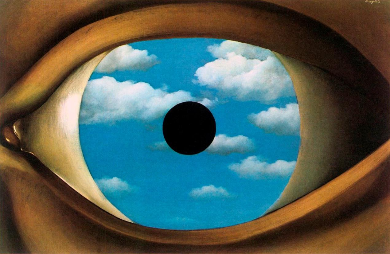 Le Faux miroir (Фальшивое зеркало), Рене Магритт, художники, сюрреализм
