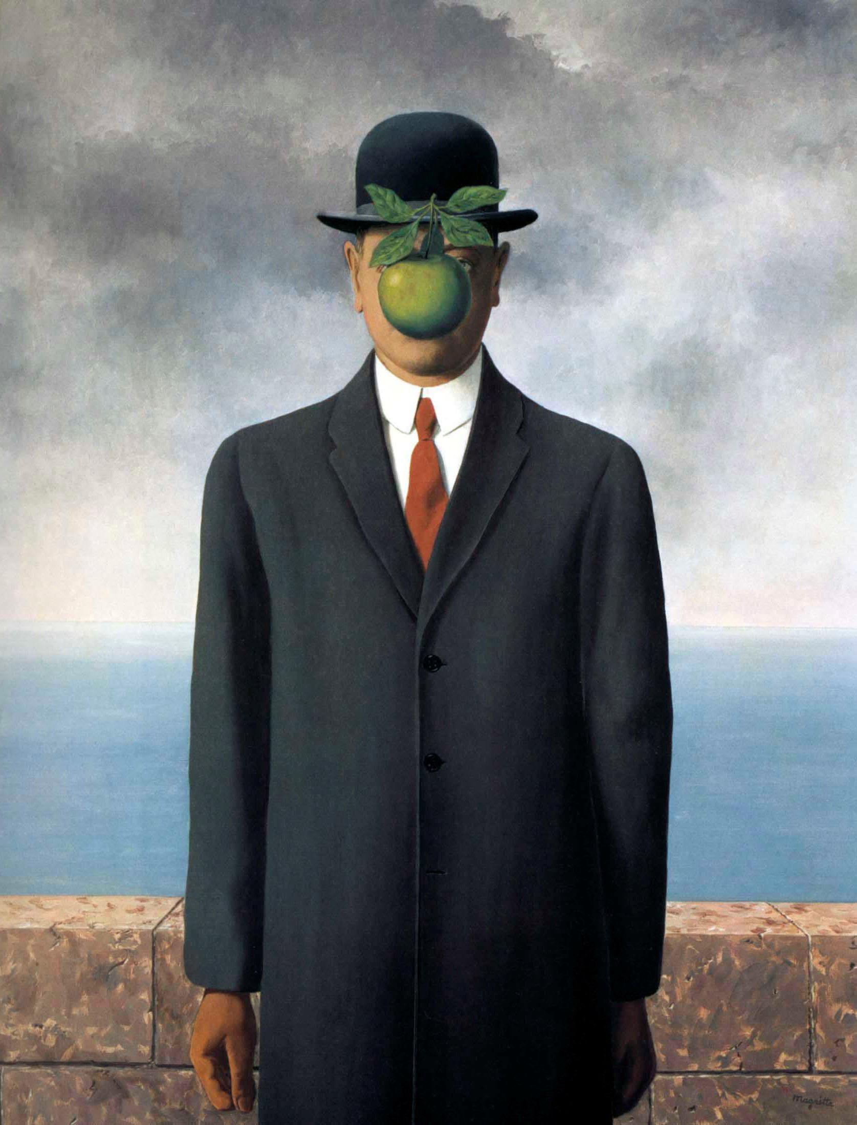 Le Fils de l'homme (Сын человеческий), Рене Магритт, сюрреализм