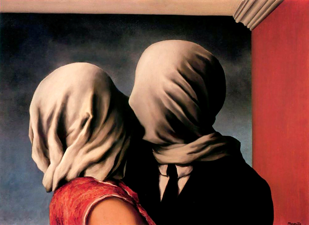 Les Amants (Любовники), картины Рене Магритт, художники, сюрреализм
