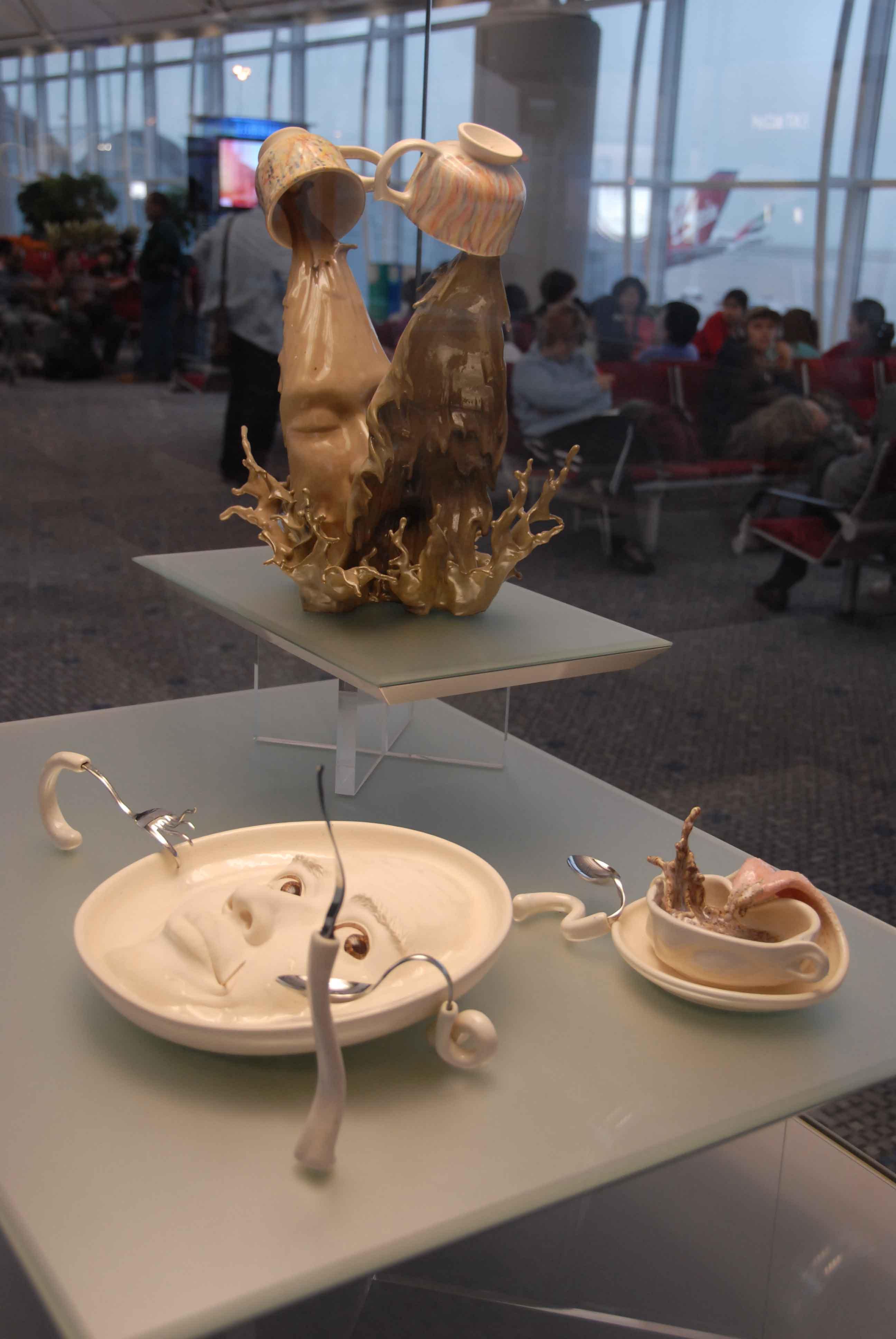 кофейный поцелуй, скульптура, Джонсон Цанг